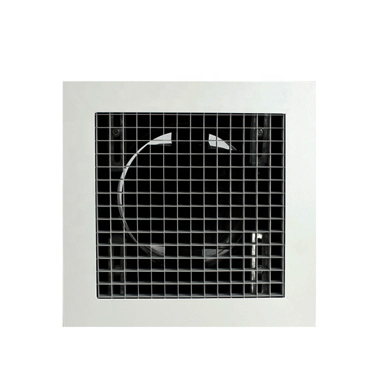 Quick Fixed Eggcrate Grille with Neck Adaptor
